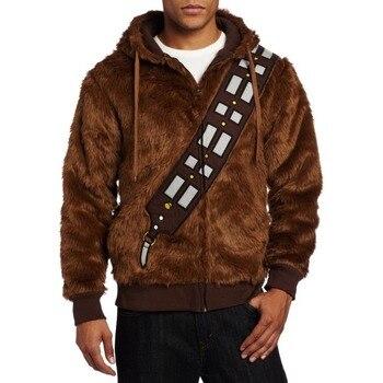 حرب النجوم أنا chewie chewbacca فروي زي هوديي سترة تأثيري