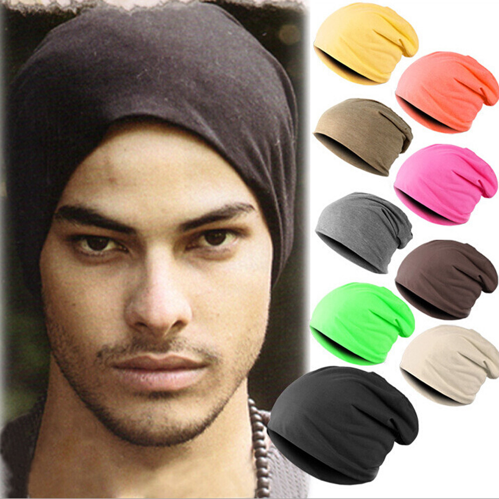 Autumn/Winter Men's Skullies Beanies Hat Cap Men casual cotton Turtleneck Male Wind Hip Hop hats For men Caps skullies