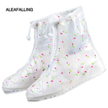 Aleafalling Collapsible Portable Waterproof Shoes Cover Tube Thicken Casual Rainboots Antiskid Wear-resistant Plastic Boot SC42