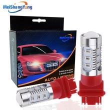 2PCS T25 3157 LED P27 7W Bulb Red Cree Chip 12SMD 5630 Car Lamps Auto P27W Stop Brake Reverse Turn Signal Lights 12V