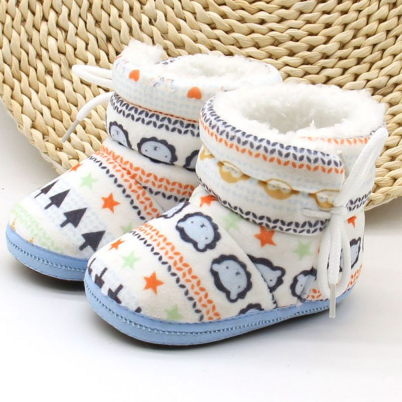 Baby Boots Winter First Walkers Fashion Baby Girls Shoes Fur Snow Warm Boots