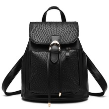 2016 дамы моды кожа рюкзак Дамы рюкзак отдыха Бренд большой емкости путешествия пакет 2016 женщин новый холщовый мешок