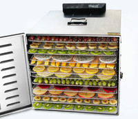 Máquina secadora de fruta de 12 capas de acero inoxidable  deshidratador de alimentos de té de fruta comercial  secador de aire de horno de secado pequeño