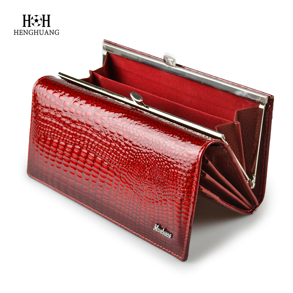 HH Alligator Womens Wallets Luxury Patent Crocodile Genuine Leather Ladies Clutch Purse Hasp Long coin Multifunctional pursesHH Alligator Womens Wallets Luxury Patent Crocodile Genuine Leather Ladies Clutch Purse Hasp Long coin Multifunctional purses