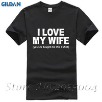 New 2017 Cotton Short Sleeve T Shirt I LOVE MY WIFE FUNNY PRINTED MENS T SHIRT