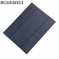 BUHESHUI Al Por Mayor 5 W 18 V Policristalino Del Panel Solar Célula solar/Módulo Solar DIY Cargador Solar Para El Sistema de 12 V batería de 220x165 MM 10 unids