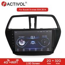 HACTIVOL 2G + 32G Android 8,1 Radio de coche para Suzuki S-CROSS 2014 reproductor de dvd del coche gps navi auto accesorios 4G reproductor multimedia