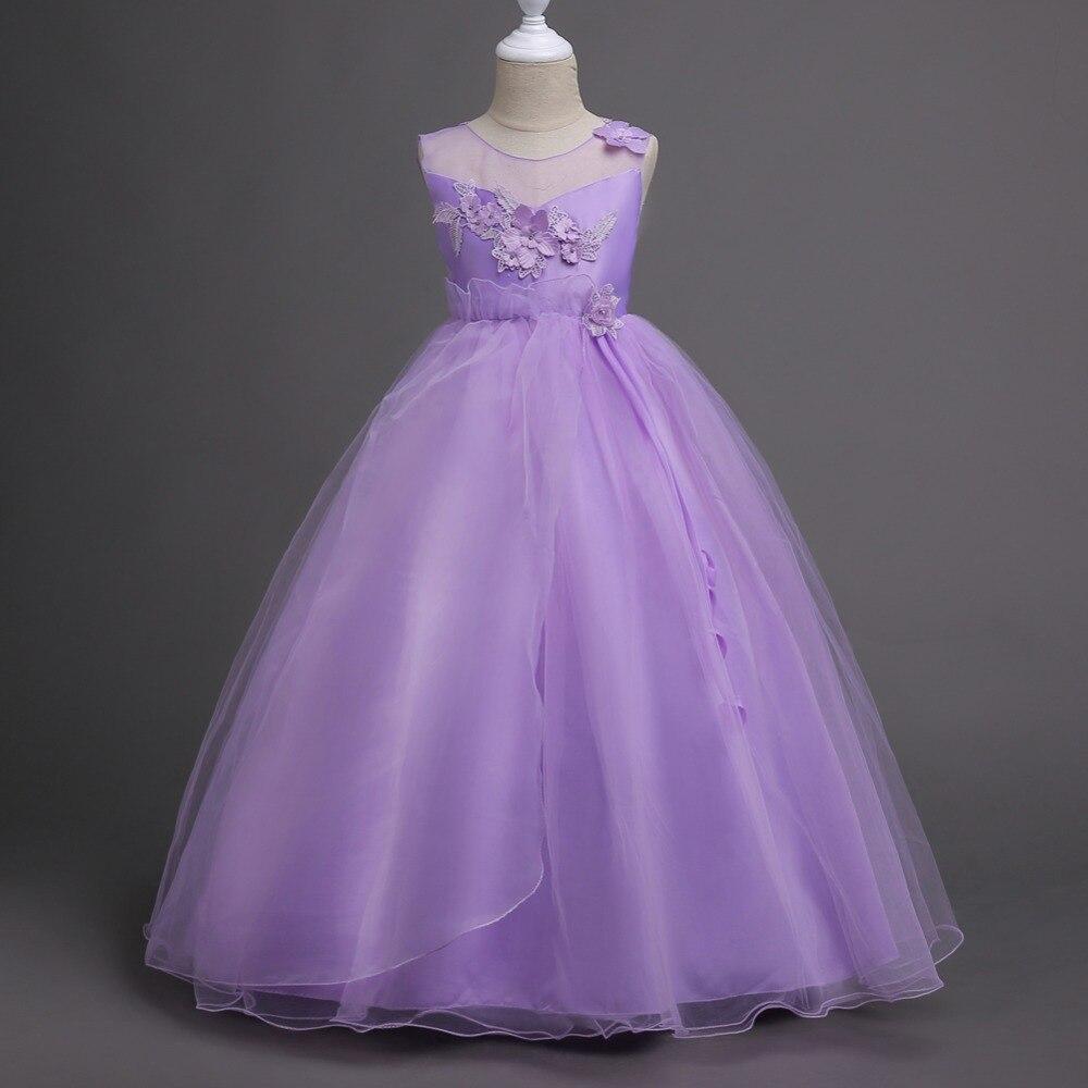 Vestido de la Muchacha de Flor de la Boda de lujo para adolescentes ...