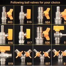 """Латунный хромированный шаровой газовый клапан G1/"""" BSPP для газового жидкого водяного вкл/выкл шарового клапана"""