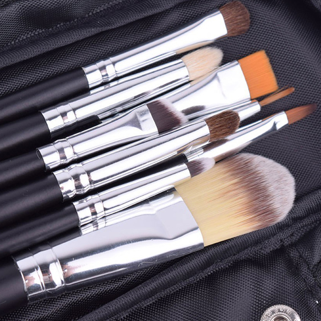 12pcs High Quality Make Up Brush Set Leather Case with Zipper Professional Cosmetic Beauty Makeup Brushes & Tools