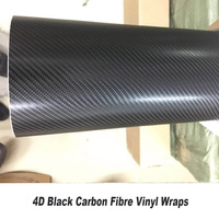 Черная 4D Автомобильная виниловая пленка из углеродного волокна для стайлинга автомобиля Размер: 1,52 м х 30 м/рулон заводская цена классическо