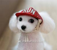 Kawaii Pets Store Striped Lovely Dog Caps Hats Adjustable Head Circumference For Small Large Pets Cats