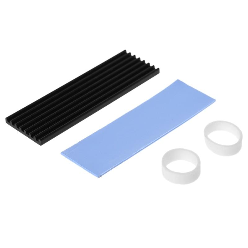 Pure Aluminum Cooling Heatsink Thermal Pad For N80 NVME M.2 NGFF 2280 PCI-E SSD