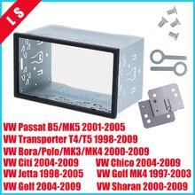 цена на 2 Din High quality Fascia Frame Car Radio DVD player Kit Stereo for 1997-2009 VW Series Jetta Chico Golf Bora/Polo/MK3/MK4 ,2din