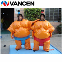 PVC tarpaulin 1.8m inflatable sumo suits for fighting high quality crazy Cosplay inflatable sumo suit for sale
