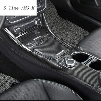 Car Styling Central Control decoration Sticker For Mercedes Benz CLA C117 GLA X156 Water Cup Storage panel trim auto Accessories