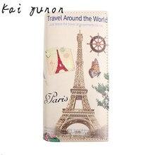 kai yunon New Paris Tower Pattern Women Long Purse Clutch Wallet Bag Card Holder Sep 8