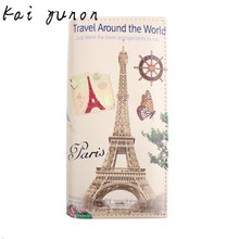 kai yunon New Paris Tower Pattern Women Long Purse Clutch Wallet Bag Card Holder Sep 8