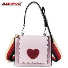 Women Fashion Red Heart Handbag Chic Designer Mini Shoulder Bag Pink White Black Crossbody Purse for Ladies Girls Sweet Tote