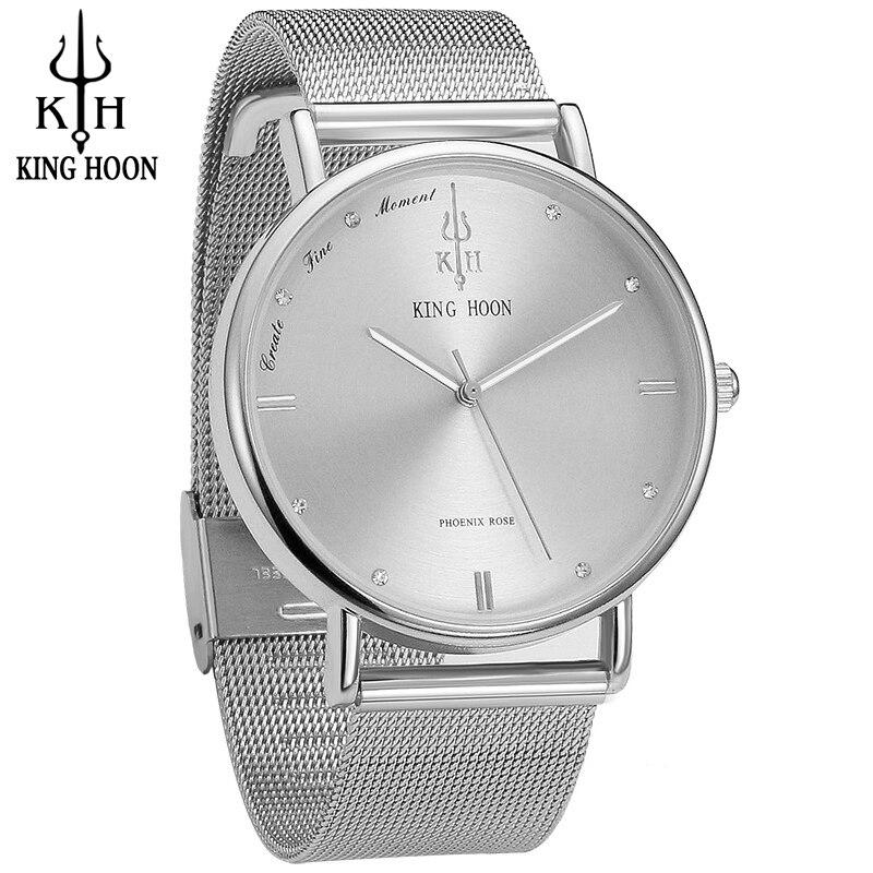 KING HOON 브랜드 쿼츠 손목 시계 패션 시계 여성 캐주얼 드레스 럭셔리 골드 숙녀 모조 다이아몬드 방수 재킷
