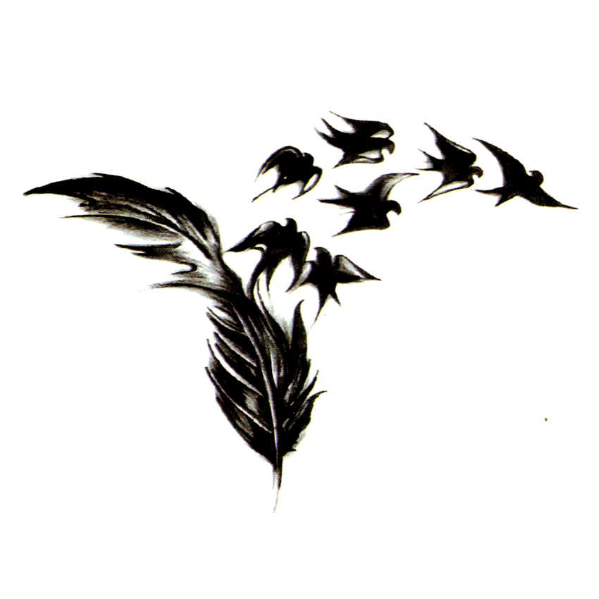 Swallow Waterproof Temporary Tattoos Sticker Fake Tattoo The flash Tatoo Sleeve Tatuajes Temporales Kids Tattoo Stickers