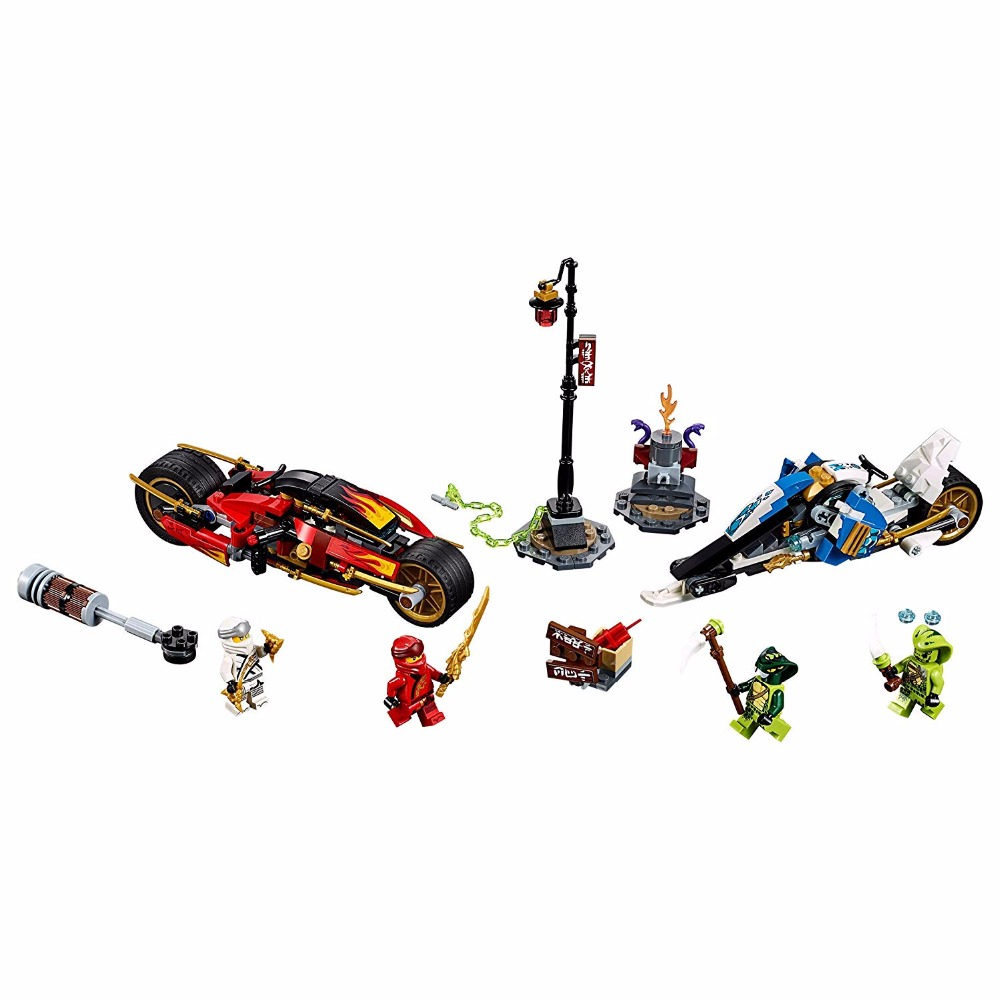 Image 2 - New Ninjago Compatible with lego Ninja 70667 Kai's Blade Cycle and Zane's Snowmobile Figures Model Building Blocks Toys For Kids-in Blocks from Toys & Hobbies