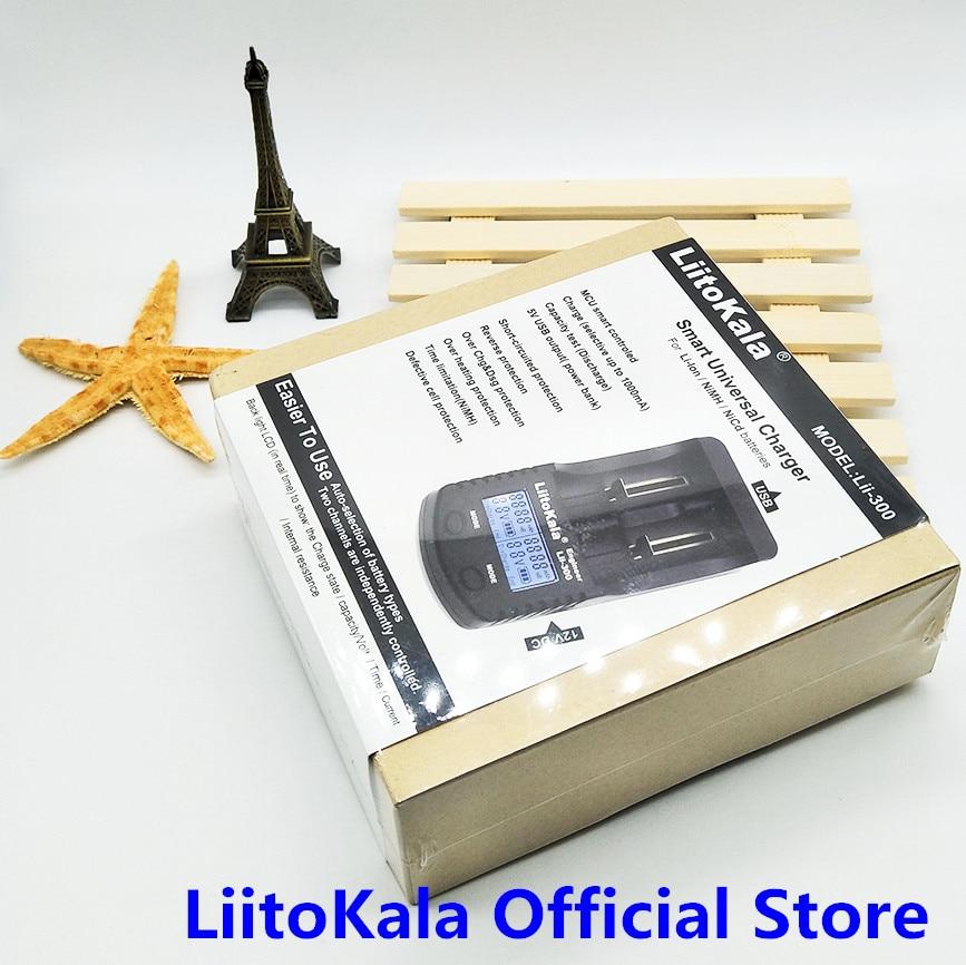 LiitoKala Lii-300 Digitale 18650 26650 18350 10440 18500 Caricatore Display LCD prova Della capacità Della Batteria bateria carregador caricatore