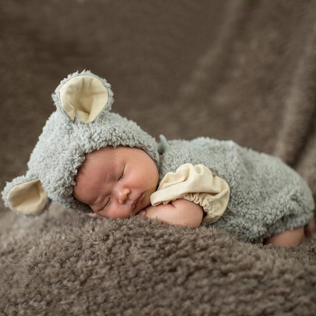3 6 months baby boys girl cute bear ears photography props costume infant unisex baby