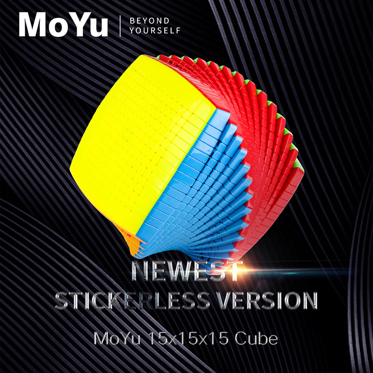 Più nuovo Promo MOYU 15 Strati di 15x15x15 nero, stickerless Cubo di Velocità di Puzzle magico 15x15 Educativi Cubo magico Giocattoli per il capretto