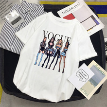 ZOGANKI Fashion Women T Shirt Cartoon Printed Shirts O-Neck Short Sleeve Summer Harajuku Tops Tee Funny