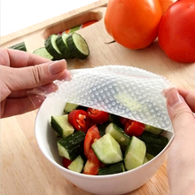 4pcs/set Multifunctional Food Fresh Keeping Wrap Kitchen Tools Reusable Silicone Food Wraps Seal Vacuum Cover Lid Stretch