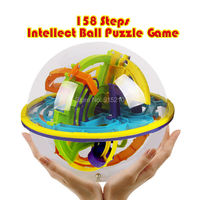 158 Steps Smart 3D Intellect Maze Ball Perplexus Magnetic Balls Games Balance Logic Ability Puzzle Ball