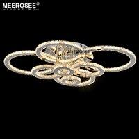 MEEROSEE LED Ceiling Light Flush Mounted living room lights 6/8 Rings Ceiling Lamp for bedroom lampara techo led plafondlamp