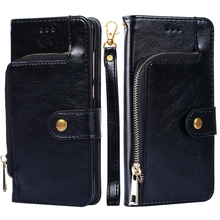 for OnePlus 7 Pro Case PU Leather Wallet Case with Card Slots and Zipper Kickstand Phone Cover for OnePlus 7 Pro Shockproof Case