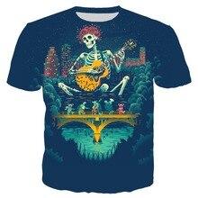 282b0ab44 3d Printed grateful dead blues for allah T shirt for Men/Women Summer Short  Sleeve