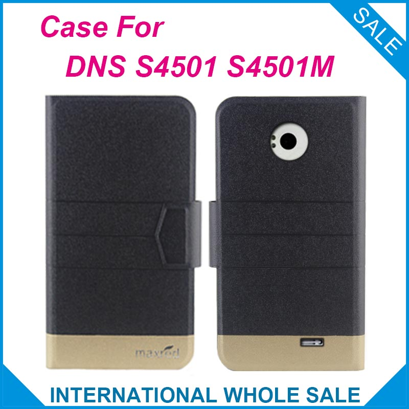 5 Colors Hot! <font><b>DNS</b></font> <font><b>S4501</b></font> S4501M Case New Fashion Business Magnetic clasp Ultrathin Flip Leather Case For <font><b>DNS</b></font> <font><b>S4501</b></font> S4501M Cover image