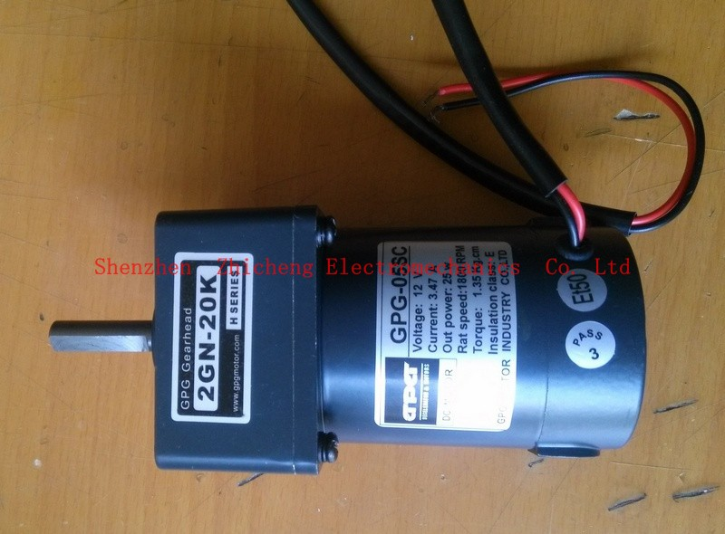 DC motor with reduction gearbox 12 V / 20 W 1800. / min. 20: yield: 90 1 / min.. gearhead, DC motor speed reduction drive toys papr reduction