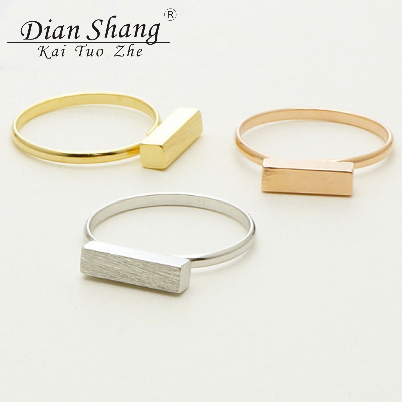 2017 New BFF Minimal Thin Cubic Bar Rings For Women Boho - Κοσμήματα μόδας - Φωτογραφία 5