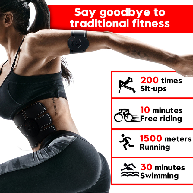 EMS Wireless Muscle Stimulator Smart Fitness Abdominal Training Electric Weight Loss Stickers Body Slimming Belt Unisex 5