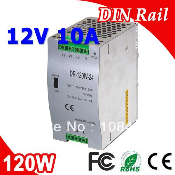 все цены на DR-120-12 LED Single Output Din Rail Switching Power Supplies Transformer DC 12V 10A Output SMPS онлайн
