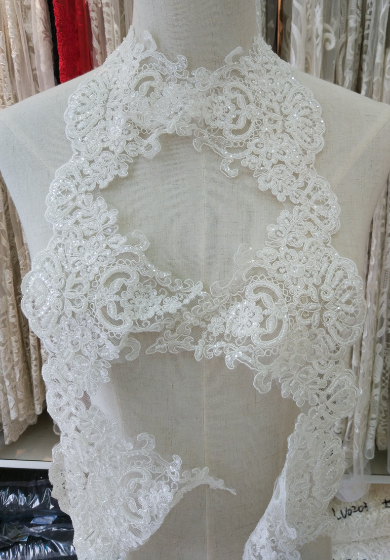 Aliexpress Buy Embroidery Beading Lace Trim Wedding Dress Curtain Diy From Reliable Beaded Suppliers On Garment Fabric: Diy Lace Wedding Dress At Reisefeber.org