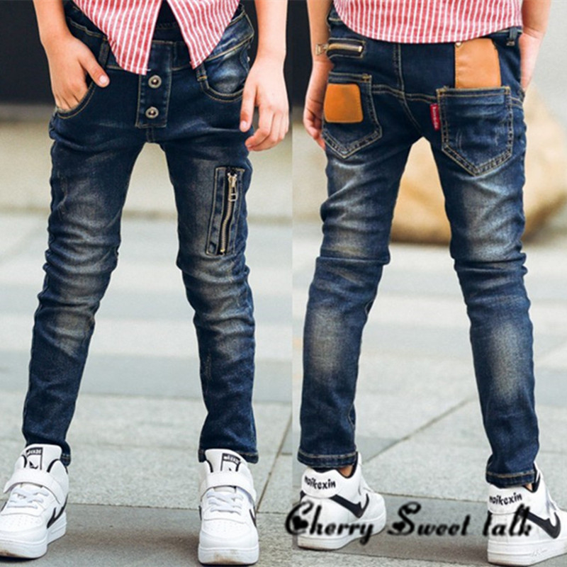 Male child jeans spring child trousers children's clothing fashion wild boy pants 3 4 5 6 7 8 9 10 11 12 13 14 years old
