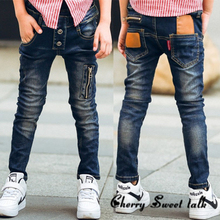 Male child jeans spring child trousers children s clothing fashion wild boy pants 3 4 5