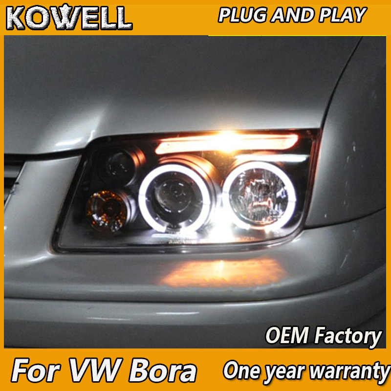 KOWELL Car Styling For VW Bora headlights 1999 2005 For Bora
