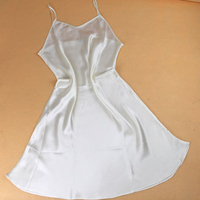 Mulberry silk sleepwear female adjustable long spaghetti strap silk nightgown basic skirt slip suspender skirt