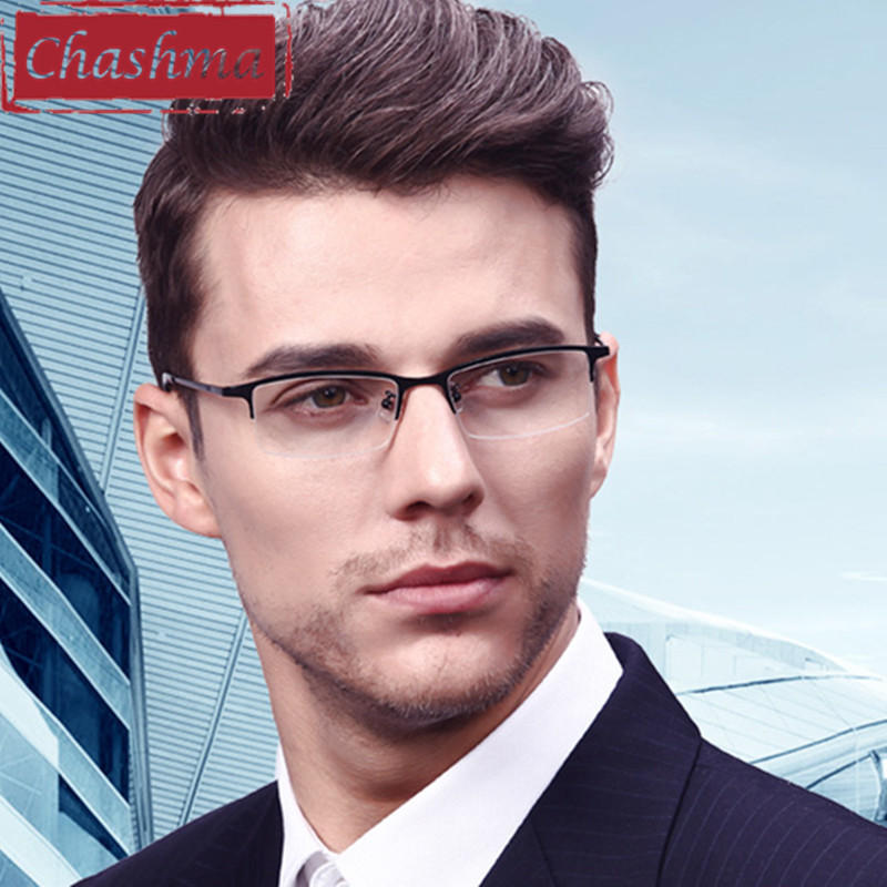 Chashma Myopi Glasses Ramar Kvalitet Glasögon Män Ram Ram Ultra Titanium Ultra Light Frame för män Nickel Free Eyeglasses