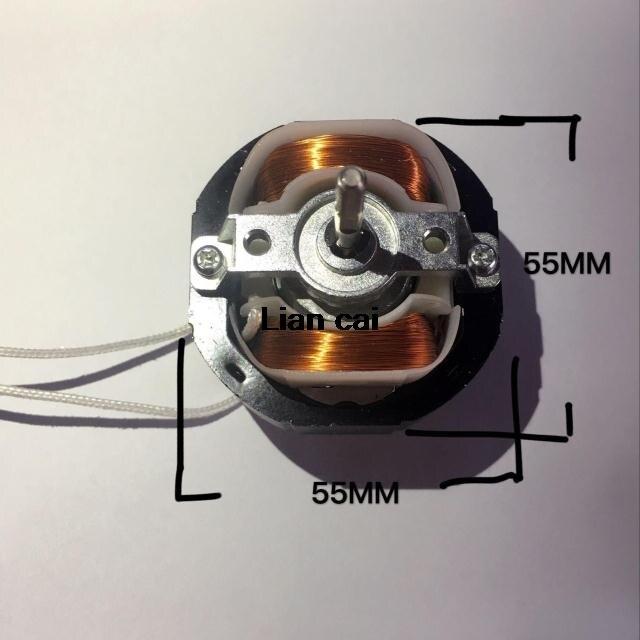 YJ58 CW clockwise 2 Poles 4mm Shaft Dia 2600RPM Shaded Pole Motor AC220V 12-14W