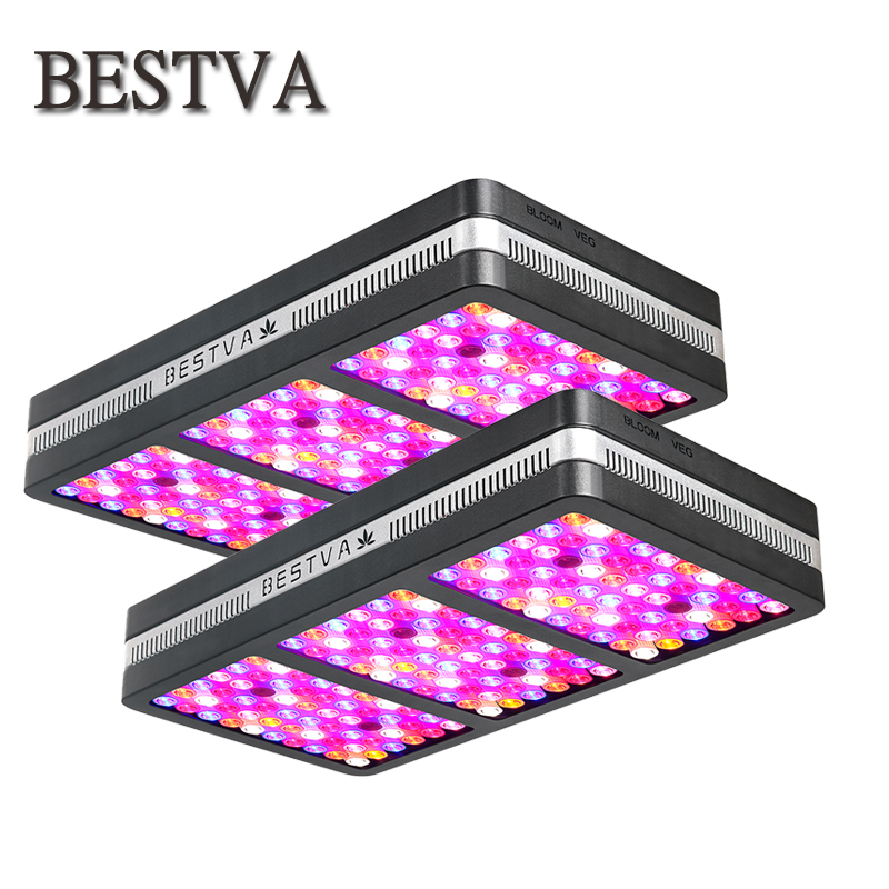 2pcs BestVA elite 2000W led grow light Full Spectrum Plant Light veg bloom Switch, IR UV Growing Lamp Hydroponic greenhouse