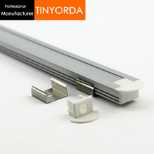 Tinyorda 500Pcs (2M Length)Strip Alu Led Profile LED Profil for 11mm Strip Light [Professional Manufacturer] TAB2212