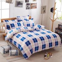 Plaid bedding set queen size Egyptian cotton bedding for men stripe duvet cover bedspread pillowcases multi size bed linen soft